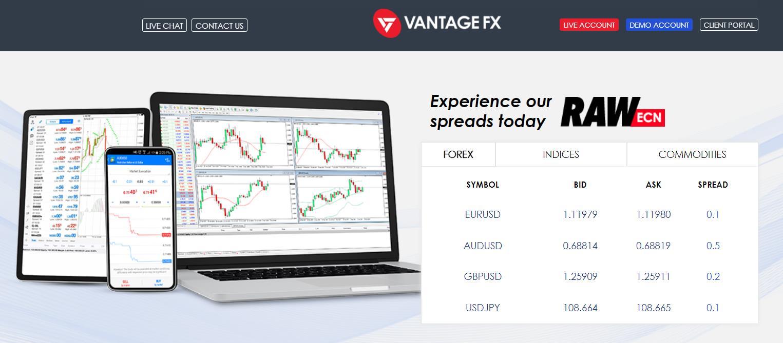 торговые платформы Vantage FX