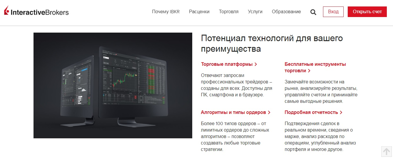 торговые условия interactive brokers