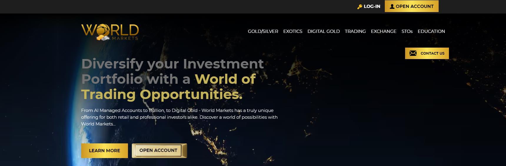 официальные сайт world markets