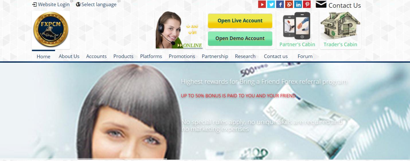 сайт компании fxpcm