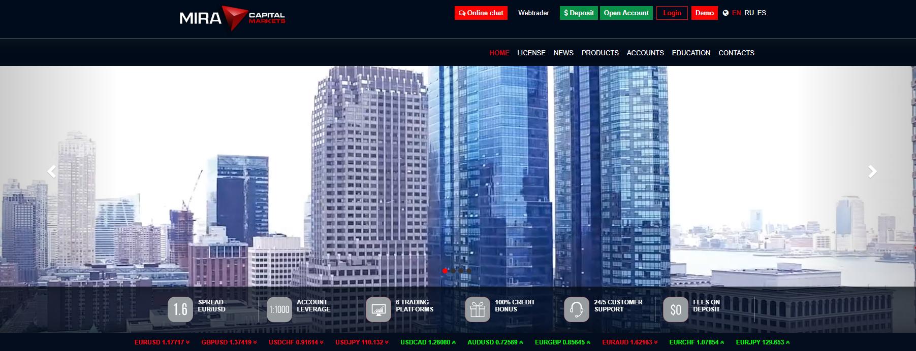 mira capital markets официальный сайт