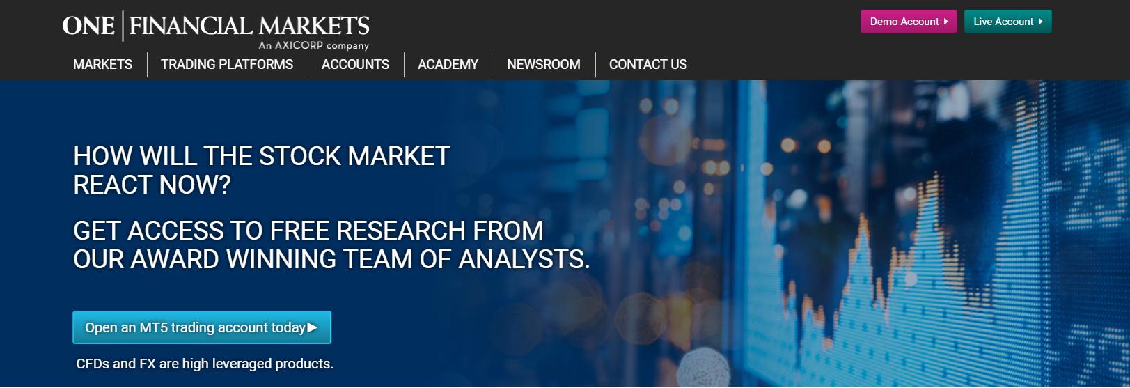 one financial markets официальный сайт