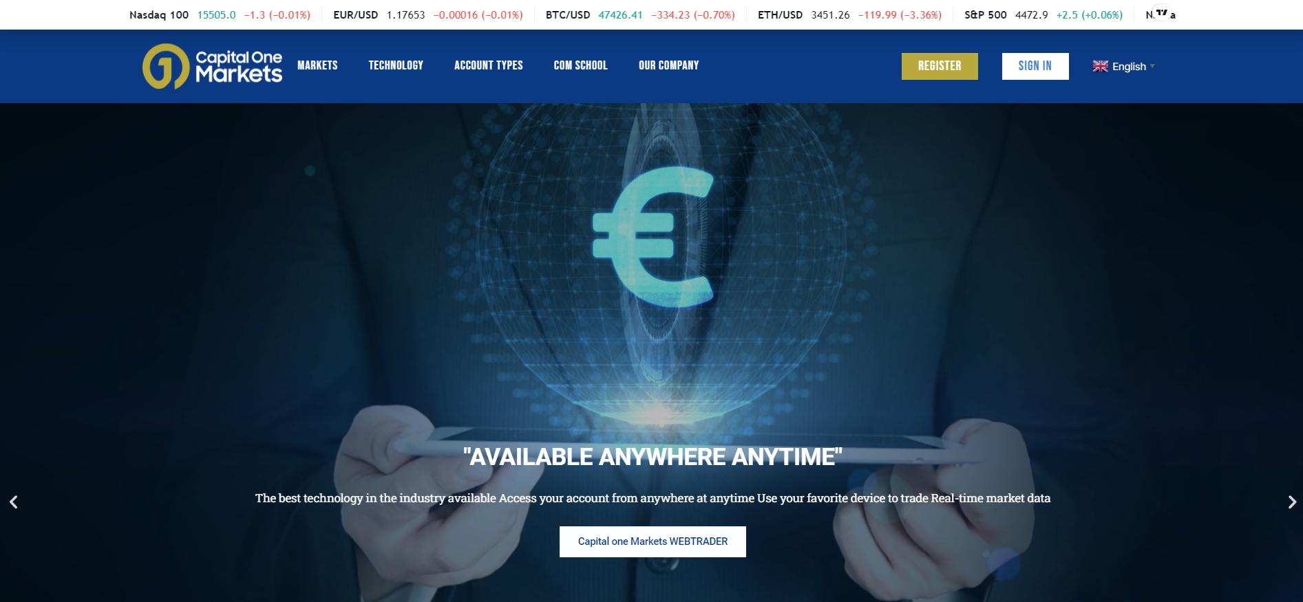 capital one markets сайт компании